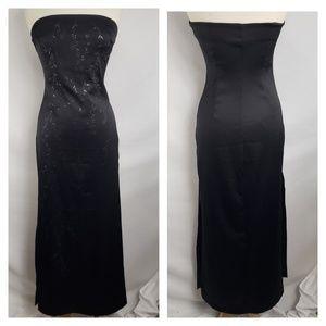 Rampage Black Stapless Full Length Prom Dress